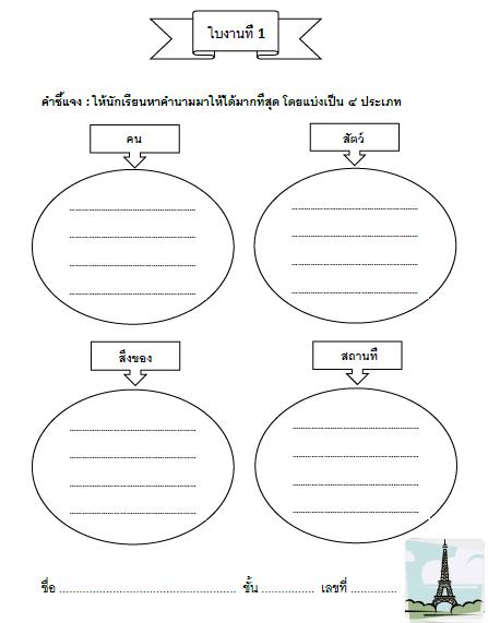 Thai Worksheet Noun Vol 1 Grade 3 Learnbig